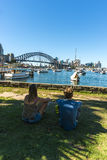 Harbour bridge and city from Lavender Bay Park Royalty Free Stock Image
