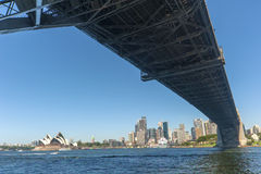 Sydney Harbour bridge city Opera house Royalty Free Stock Photo