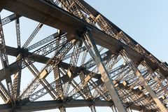 Harbour bridge detail Royalty Free Stock Photos
