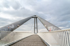Harbour bridge in Duesseldorf Stock Photo