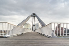 Harbour bridge in Duesseldorf Stock Images