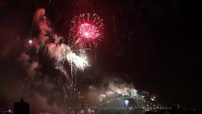 Harbour Bridge Fireworks stock video footage