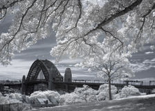 Harbour Bridge in Infrared Stock Photo