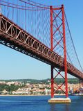Harbour Bridge in Lisbon, Portugal Royalty Free Stock Images