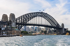 Harbour Bridge from the Manly Ferry in Sydney, Australia Stock Photos