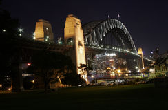 Harbour Bridge at night (North) Royalty Free Stock Photos