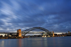 Harbour Bridge - Night Skyline. This shot was taken shortly after sunset from Milson Points. Sydney city and Harbou Bridge in horizontal composition royalty free stock image