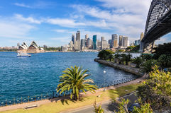 Harbour Bridge, Opera and CBD from Kirribilli in Sydney, Austral Royalty Free Stock Photography