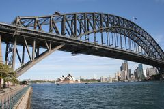 Harbour Bridge & Opera House. Sydney Harbour Bridge, Opera House and CBD Stock Photography