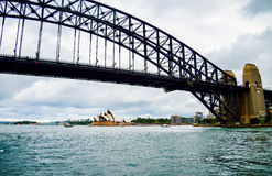 Harbour bridge and Opera house in Sydney Australia. 1 Stock Images