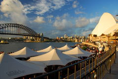 Harbour Bridge and Opera House. Sydney. New South Wales. Australia. Sydney is the state capital of New South Wales and the most populous city in Australia and Stock Photo