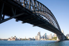 Harbour bridge in perspective Stock Image