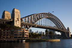 Harbour bridge Sydney. Sydney harbour bridge in morning hours Royalty Free Stock Images