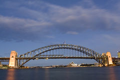 Harbour Bridge - Sydney, Australia. Sydney Harbour Bridge taken shortly after sunset royalty free stock image