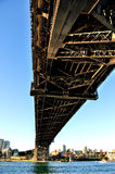 Harbour Bridge in Sydney. Australia, shot from the underneath Royalty Free Stock Photo
