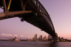Harbour Bridge - Sydney City Skyline Stock Photography