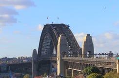 Harbour bridge Sydney harbour cityscape Sydney Australia. Harbour bridge Sydney harbour cityscape in Sydney Australia Stock Photo