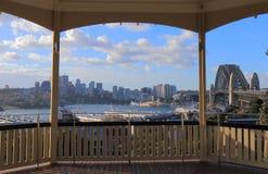 Harbour bridge Sydney harbour cityscape Sydney Australia. Harbour bridge Sydney harbour cityscape in Sydney Australia Stock Image
