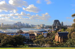 Harbour bridge Sydney harbour cityscape Sydney Australia. Harbour bridge Sydney harbour cityscape in Sydney Australia Royalty Free Stock Photo