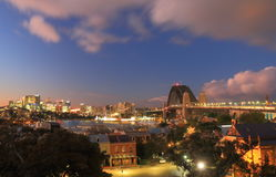 Harbour bridge Sydney harbour cityscape Sydney Australia. Harbour bridge Sydney harbour cityscape in Sydney Australia Royalty Free Stock Photography