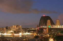Harbour bridge Sydney harbour cityscape Sydney Australia. Harbour bridge Sydney harbour cityscape in Sydney Australia Stock Photos