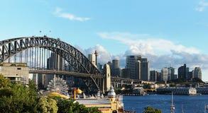 Harbour Bridge, Sydney. Picture of iconic Harbour Bridge and buildings in Sydney Australia Royalty Free Stock Image