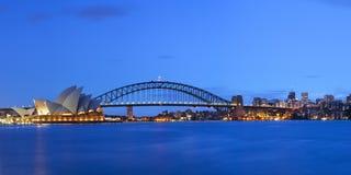 Harbour Bridge and Sydney skyline, Australia at dawn Stock Photography