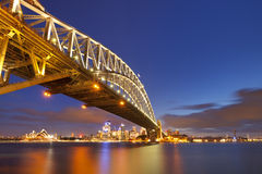 Harbour Bridge and Sydney skyline, Australia at night Stock Image
