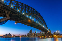 Harbour Bridge in Sydney. At sunrise Royalty Free Stock Photography