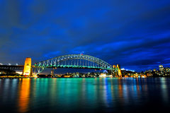 Harbour Bridge under blue sky Royalty Free Stock Images