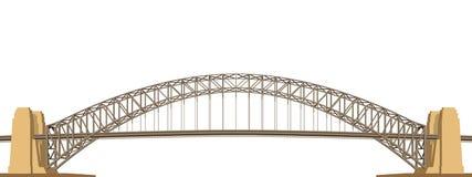 Harbour Bridge Vector. Harbour Bridge in Australia Vector Illustration Royalty Free Stock Photos