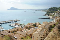 Harbour in Calpe. A harbour view in Calpe, Spain Stock Photography