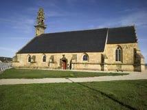 Harbour of Camaret, church stock photos