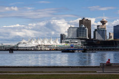 Harbour Center and Canada Place Vancouver Stock Photography