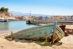 Harbour of Chania. Crete, Greece Stock Photo