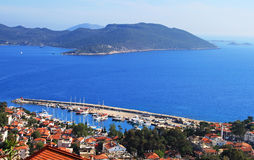 Harbour of city Kas (Kash) in Turkey Stock Image
