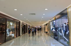 Harbour City shopping mall Hong Kong. People visit Harbour City shopping mall in Hong Kong Stock Photos