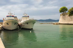 Harbour and city walls. Zadar. Croatia. Royalty Free Stock Image