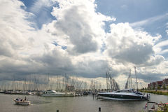Harbour clouds Royalty Free Stock Photography