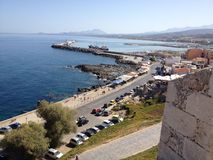 Fortess. Harbour on the coast of the Cretan sea Royalty Free Stock Photo