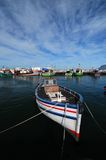 Harbour Colours. Fishing boat moored at Kalk bay harbour near cape Town Royalty Free Stock Photo