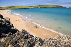 Harbour Cove, Cornwall. Rocks and beach at Harbour Cove near Padstow in Cornwall, UK Stock Photography