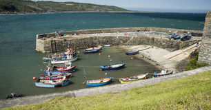 Harbour at Coverack in Cornwall, England Stock Image
