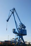 Harbour crane Stock Image