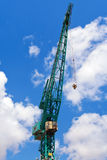 Harbour Crane. Against cloudy blue sky Stock Photo