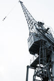 Harbour crane. A harbour crane view from below Royalty Free Stock Photography
