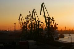 Harbour Cranes Royalty Free Stock Photo
