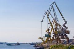 Harbour cranes Stock Photo