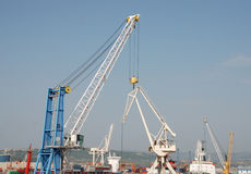 Harbour Cranes, Koper Royalty Free Stock Photo
