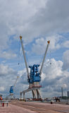 Harbour cranes Royalty Free Stock Photography